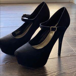 JustFab heels with buckle
